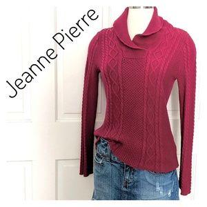 EUC ~ JEANNE PIERRE Cable Knit Sweater
